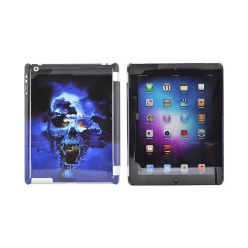 Apple New iPad (3rd Gen.) Hard Case - Blue Skull (Works with Smart Cover!)