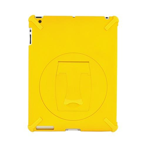 Apple New iPad Hard Case w/ Rotatable Kickstand - Yellow