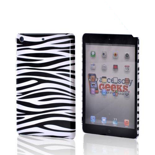 Black/ White Zebra Hard Case for Apple iPad Mini