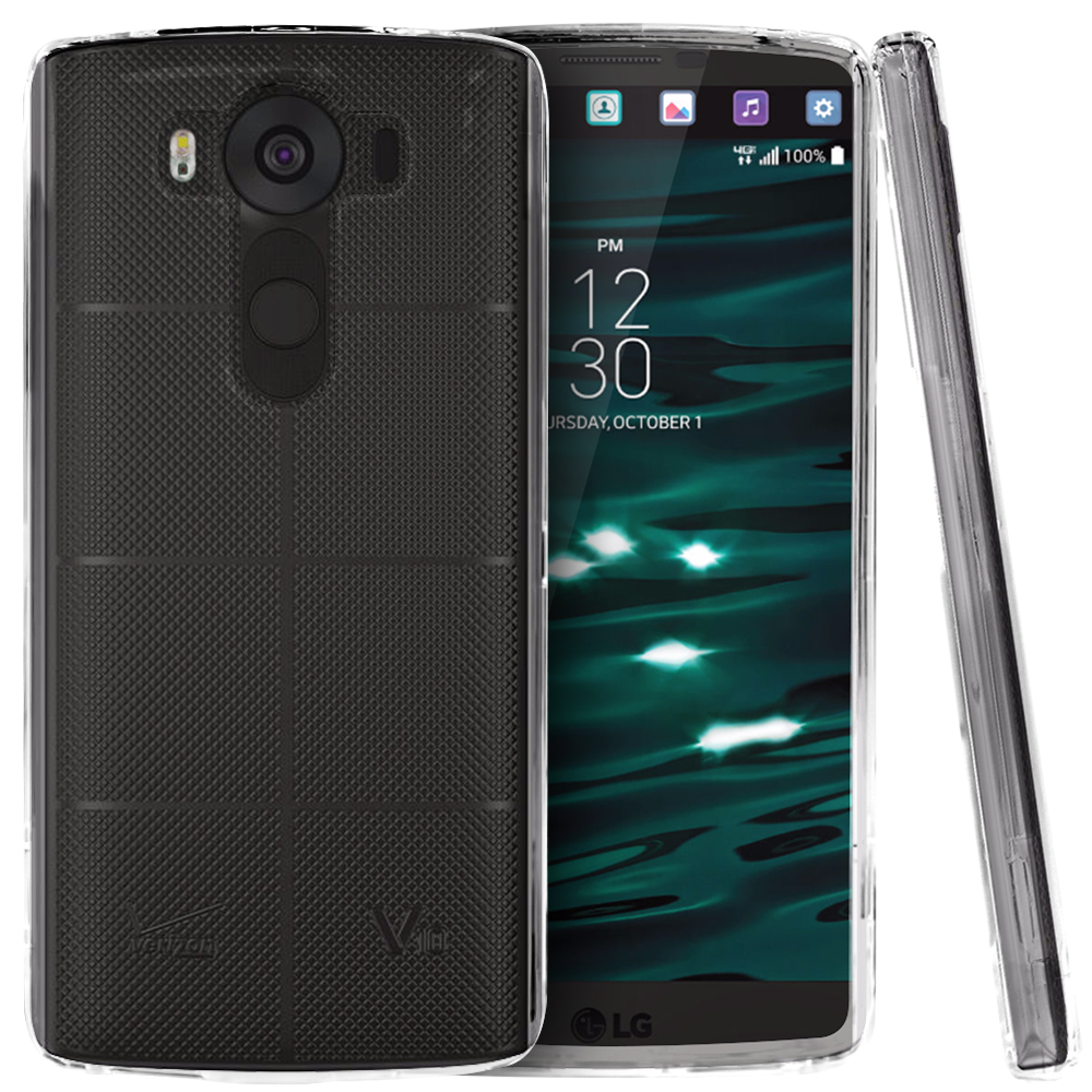 LG V10 Case, [Clear] Slim & Protective Crystal Glossy Snap-on Hard Polycarbonate Plastic Case Cover