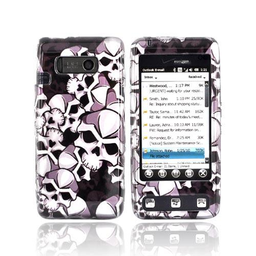 LG Fathom VS750 Hard Case - Skulls on Black