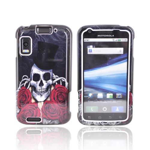 Motorola Atrix 4G Hard Case - Skull Magician on Black