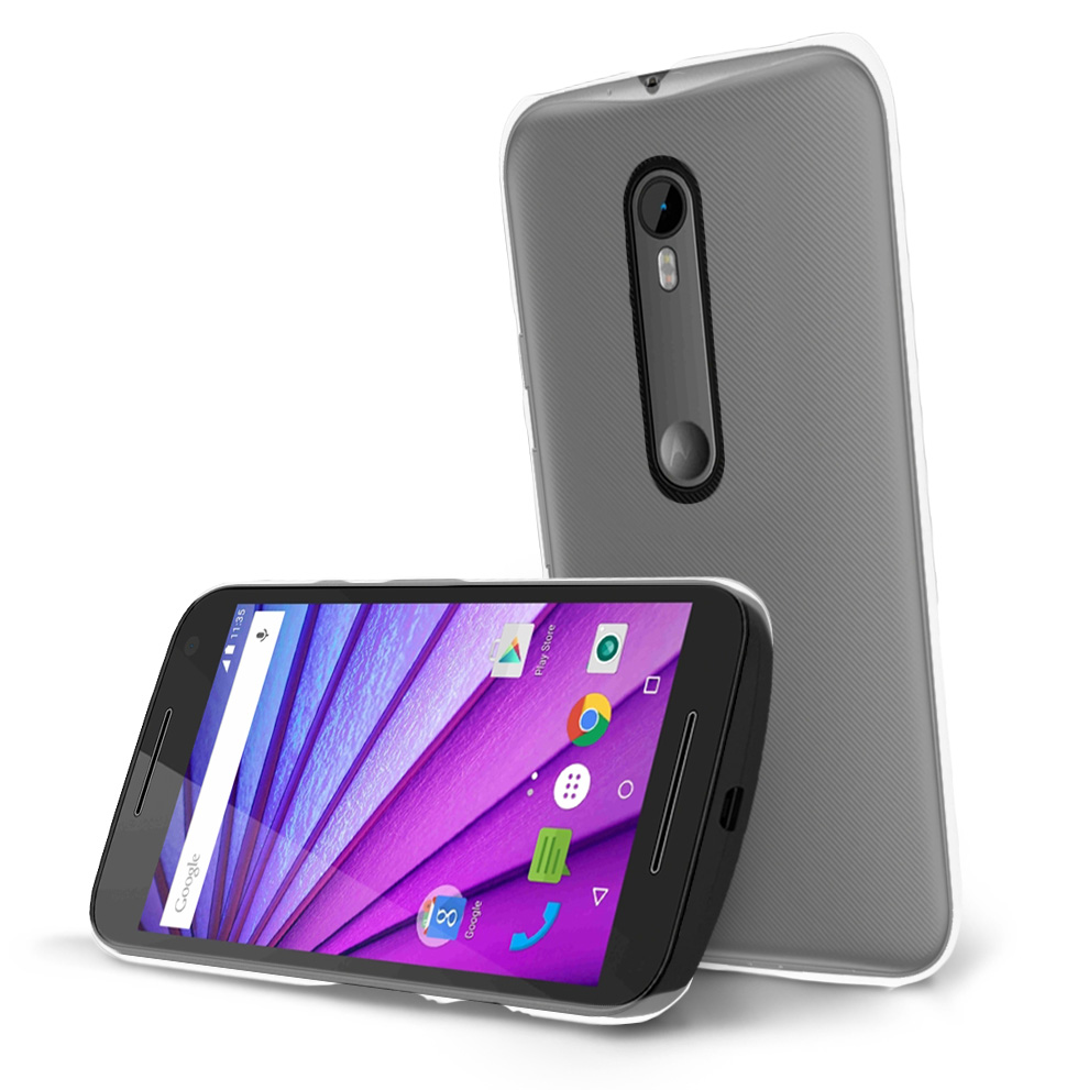 Motorola Moto G 2015 Case, [Clear] Slim & Protective Crystal Glossy Hard Plastic Case