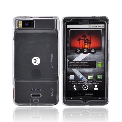 Luxmo Motorola Droid X MB810 Hard Case - Transparent Clear