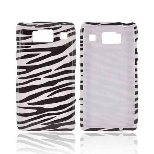 Motorola Droid RAZR HD Hard Case - Black/ White Zebra