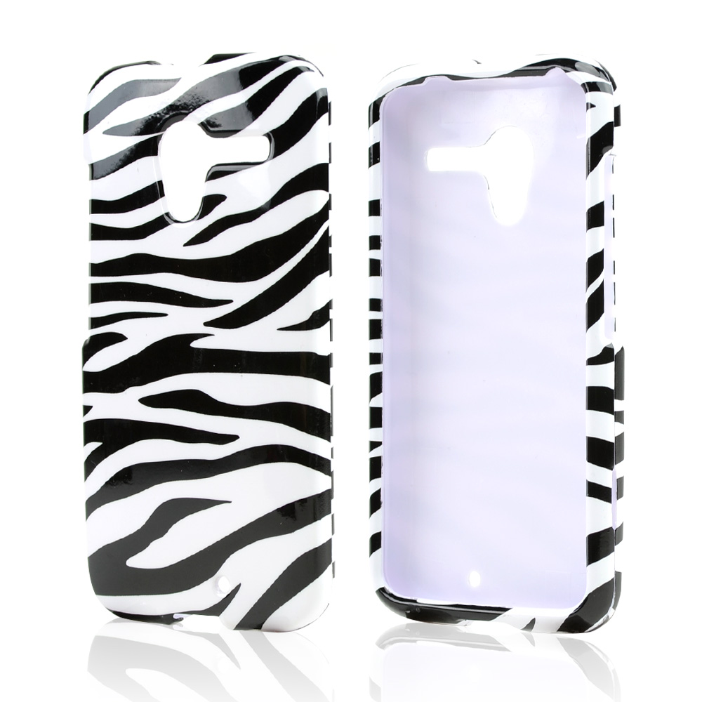 Black Zebra on White Hard Case for Motorola Moto X (2013 1st Gen)