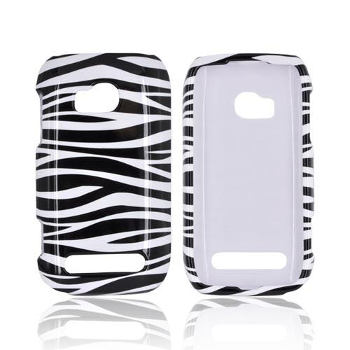 Nokia Lumia 710 Hard Case - Black/ White Zebra
