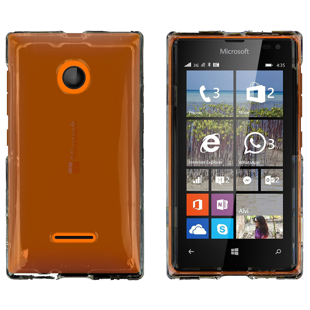 Nokia Lumia 435 Case, CLEAR Slim & Protective Crystal Glossy Snap-on Hard Polycarbonate Plastic Protective Case