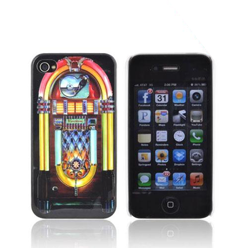 AT&T/ Verizon Apple iPhone 4, iPhone 4S Hard Case - Multi-Colored Jukebox