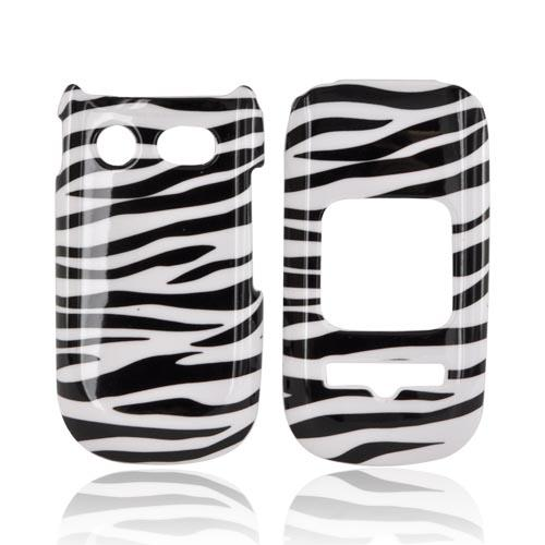 Pantech Breeze 3 Hard Case - Black/ White Zebra