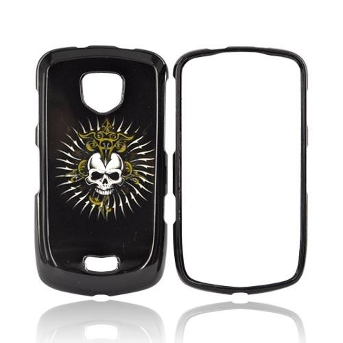 Samsung Droid Charge Hard Case - Cross Skull on Black