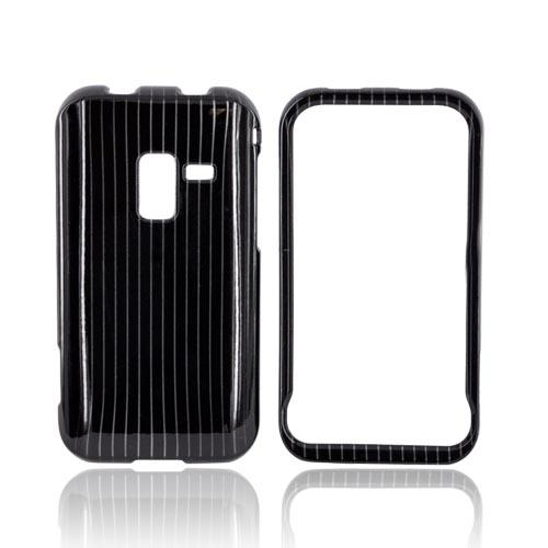 Samsung Conquer 4G Hard Case - Silver Lines on Black