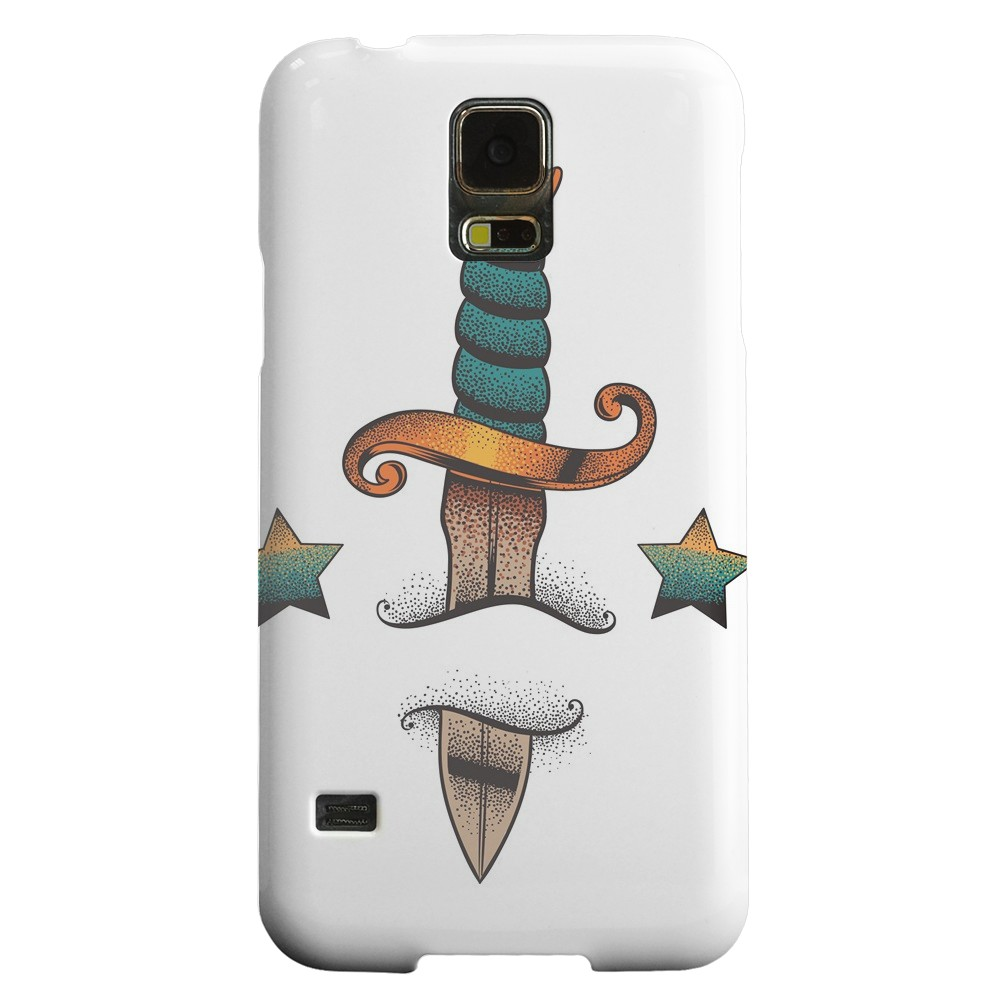 Geeks Designer Line (GDL) Samsung Galaxy S5 Matte Hard Back Cover - Dagger on White