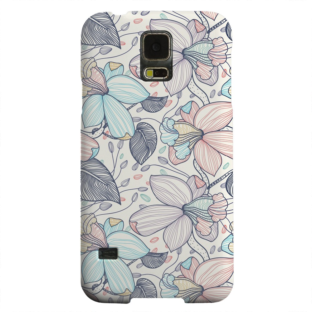 Geeks Designer Line (GDL) Samsung Galaxy S5 Matte Hard Back Cover - Colorful Orchid Lines