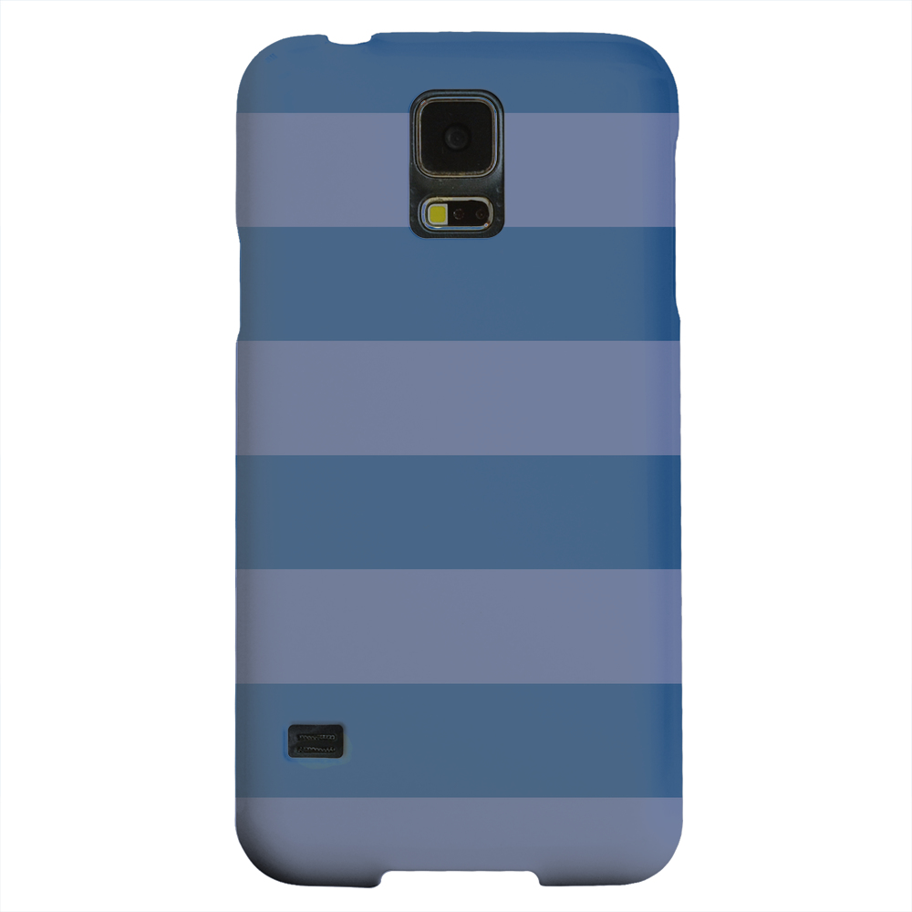 Geeks Designer Line (GDL) Samsung Galaxy S5 Matte Hard Back Cover - Stripes Monaco Blue
