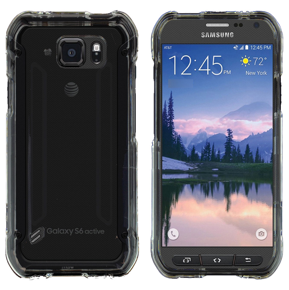 Samsung Galaxy S6 Active Case, CLEAR Slim & Protective Crystal Glossy Snap-on Hard Polycarbonate Plastic Protective Case