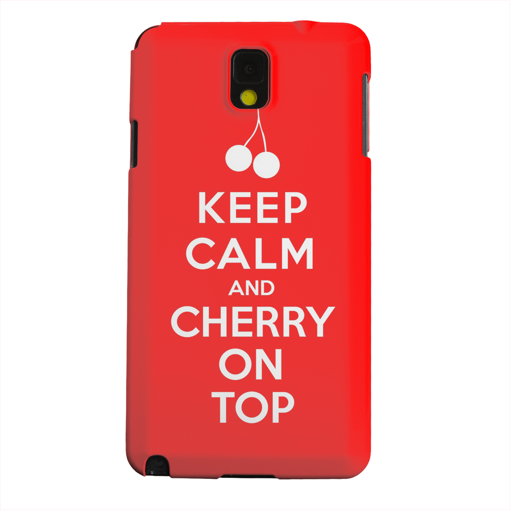 Geeks Designer Line (GDL) Samsung Galaxy Note 3 Matte Hard Back Cover - Red Cherry On Top