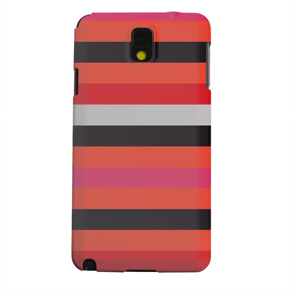 Geeks Designer Line (GDL) Samsung Galaxy Note 3 Matte Hard Back Cover - Muted Spade Stripes