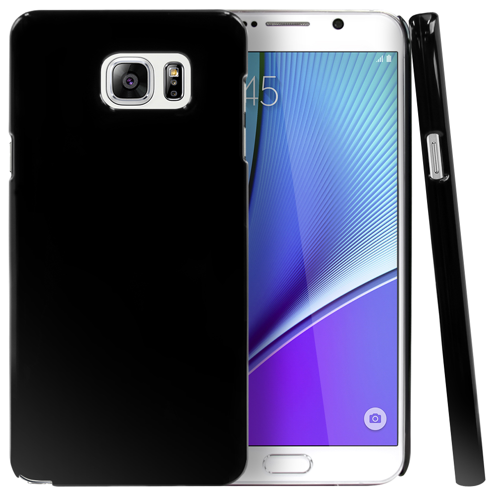 Samsung Galaxy Note 5, [Black]  Slim & Protective Crystal Glossy Snap-on Hard Polycarbonate Plastic Case Cover