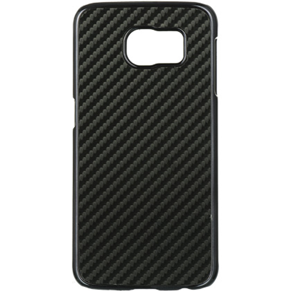 Samsung Galaxy S6 Case,  [Carbon Fiber]  Slim & Protective Crystal Glossy Snap-on Hard Polycarbonate Plastic Case Cover