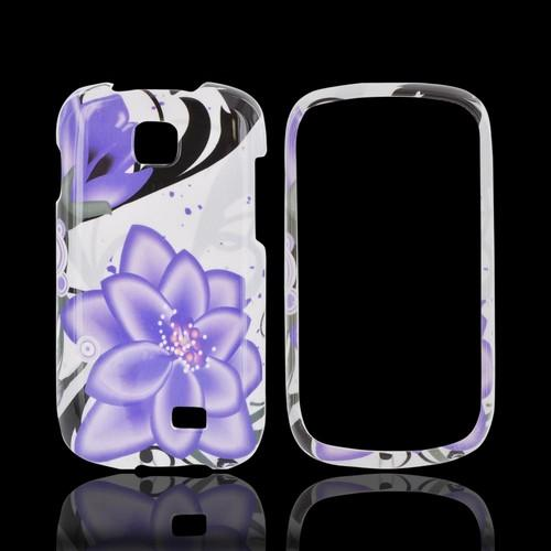 Samsung Galaxy Appeal Hard Case - Purple Lily on White