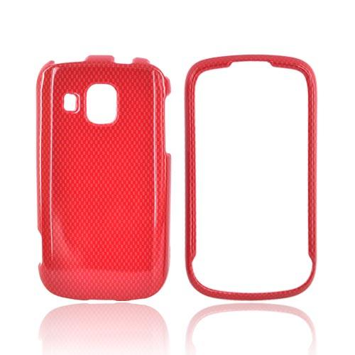 Samsung Transform Ultra M930 Hard Case - Red Carbon Fiber