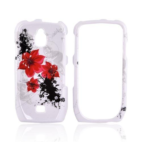 Samsung Exhibit T759 Hard Case - Red Lilly on White