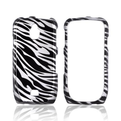 Samsung Exhibit T759 Hard Case - Black/ Silver Zebra