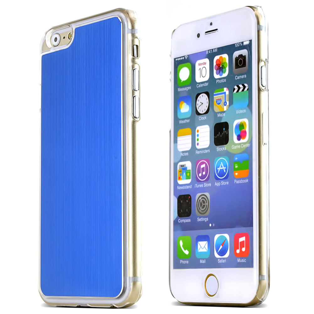 Made for Apple iPhone 6/ 6S Case,  [Blue]  Slim Protective Polycarbonate Plastic Back with Aluminum Metal Border Case Cover by Redshield