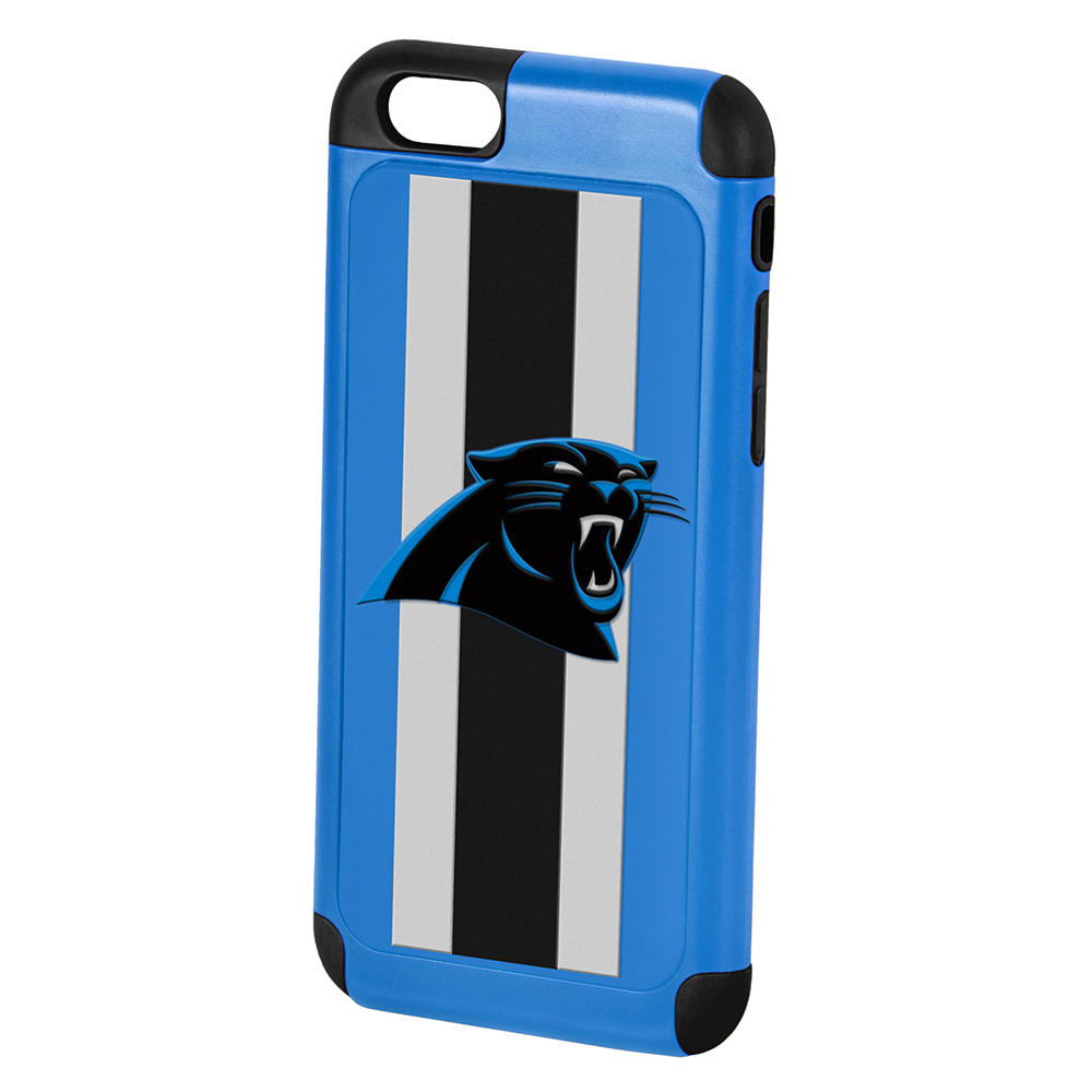 Made for Apple iPhone 6S Plus / 6 Plus NFL Case, Slim Dual layer Hybrid Hard Case on TPU Case [Carolina Panthers] by NFL