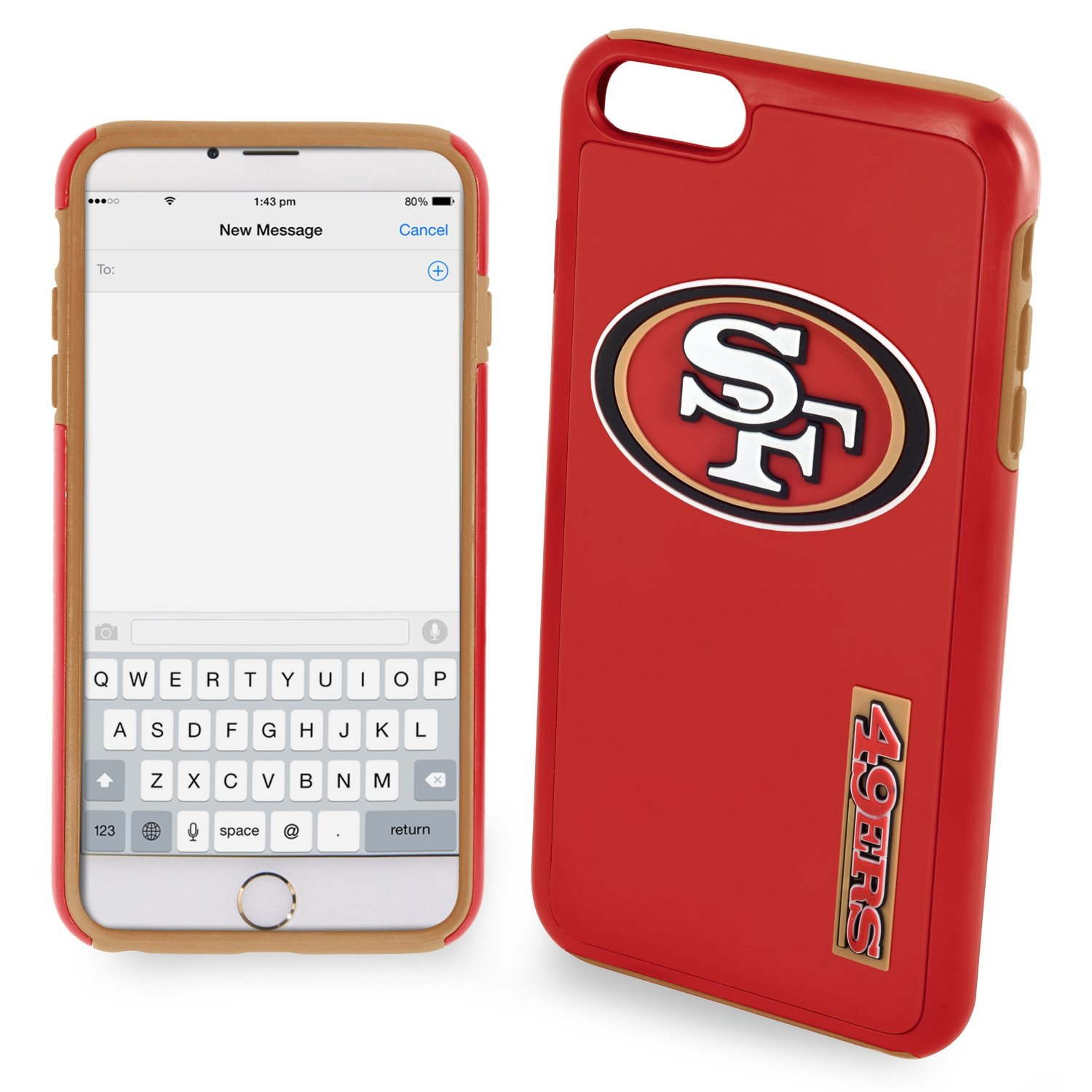 Apple iPhone 6S / 6 NFL Case, Slim Dual layer Hybrid Hard Case on TPU Case [San Francisco 49ers]