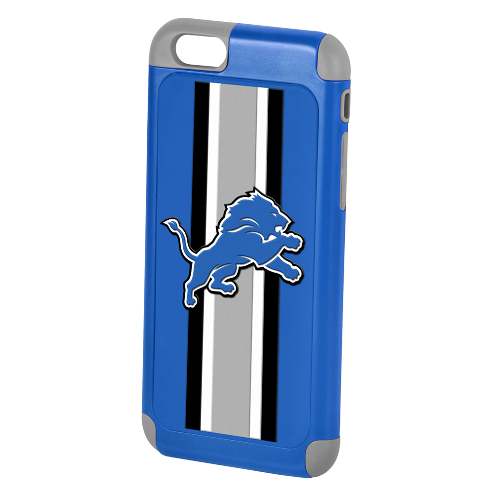 Made for Apple iPhone 6/6S (4.7 inch) NFL Case, Slim Dual layer Hybrid Hard Case on TPU Case [Detroit Lions] by NFL