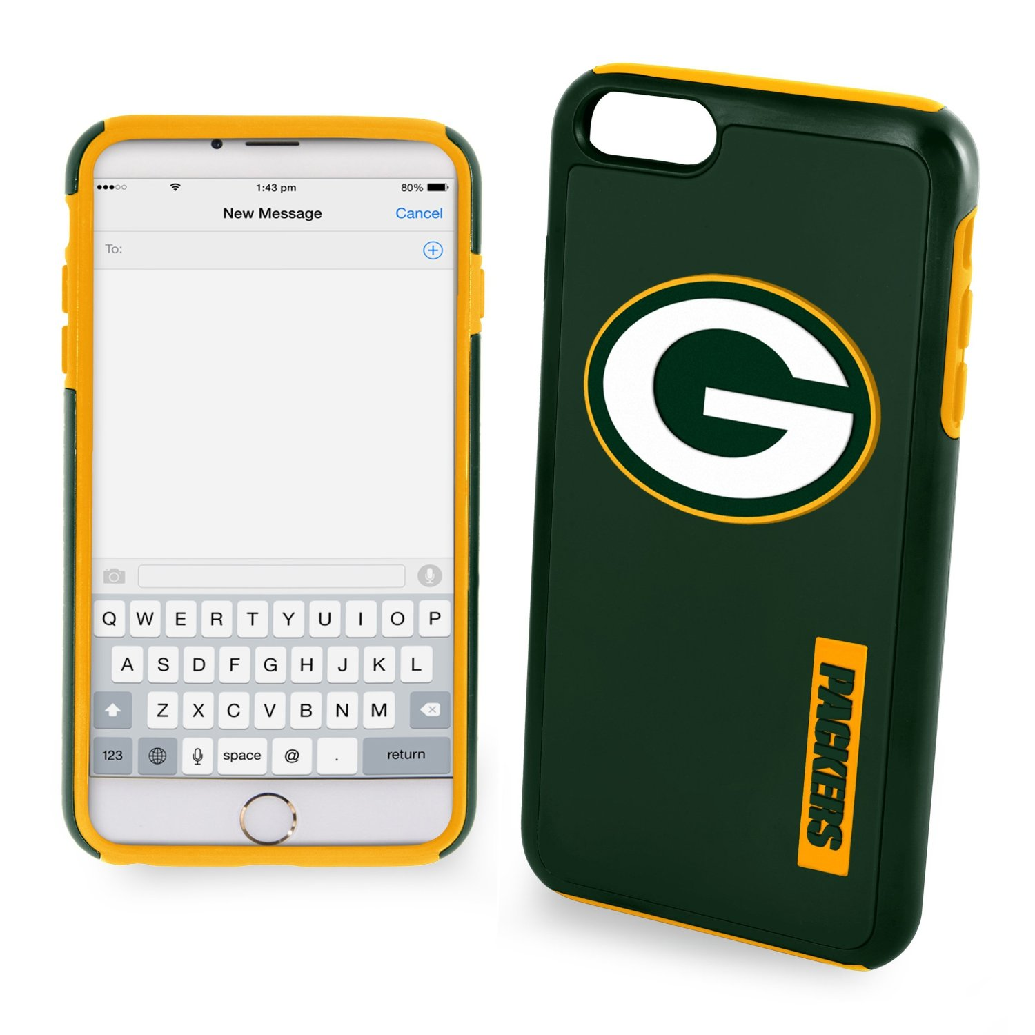 Apple iPhone 6/6S (4.7 inch) NFL Case, Slim Dual layer Hybrid Hard Case on TPU Case [Green Bay Packers]
