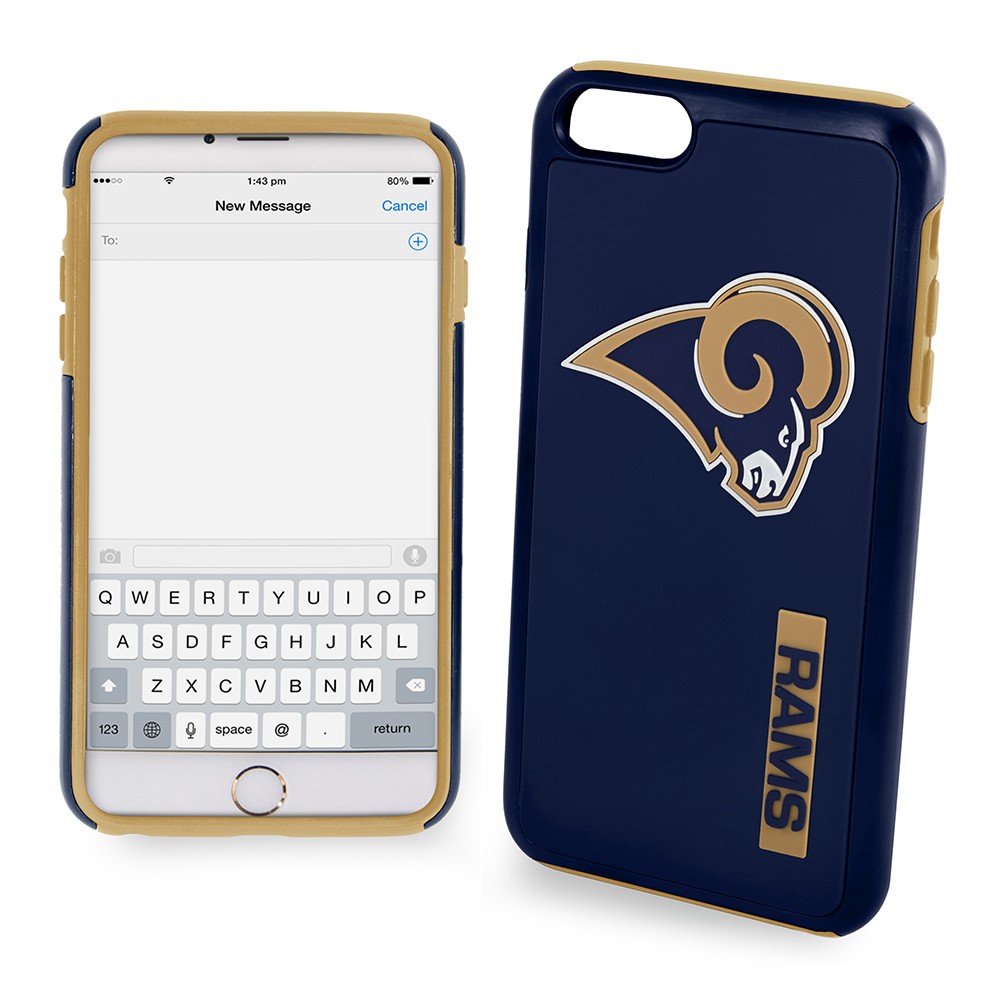 Apple iPhone 6S / 6 NFL Case, Slim Dual layer Hybrid Hard Case on TPU Case [Los Angeles Rams]