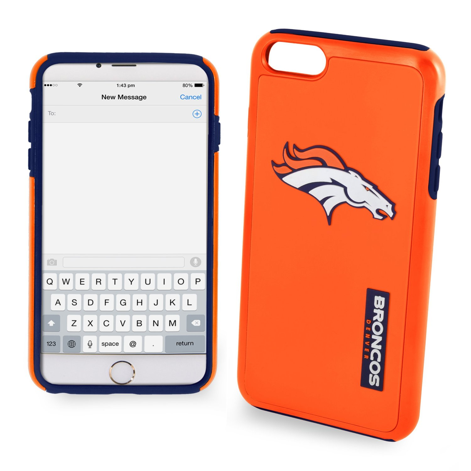 Made for Apple iPhone 6/6S Plus (5.5 inch) NFL Case, Slim Dual layer Hybrid Hard Case on TPU Case [Denver Broncos] by NFL