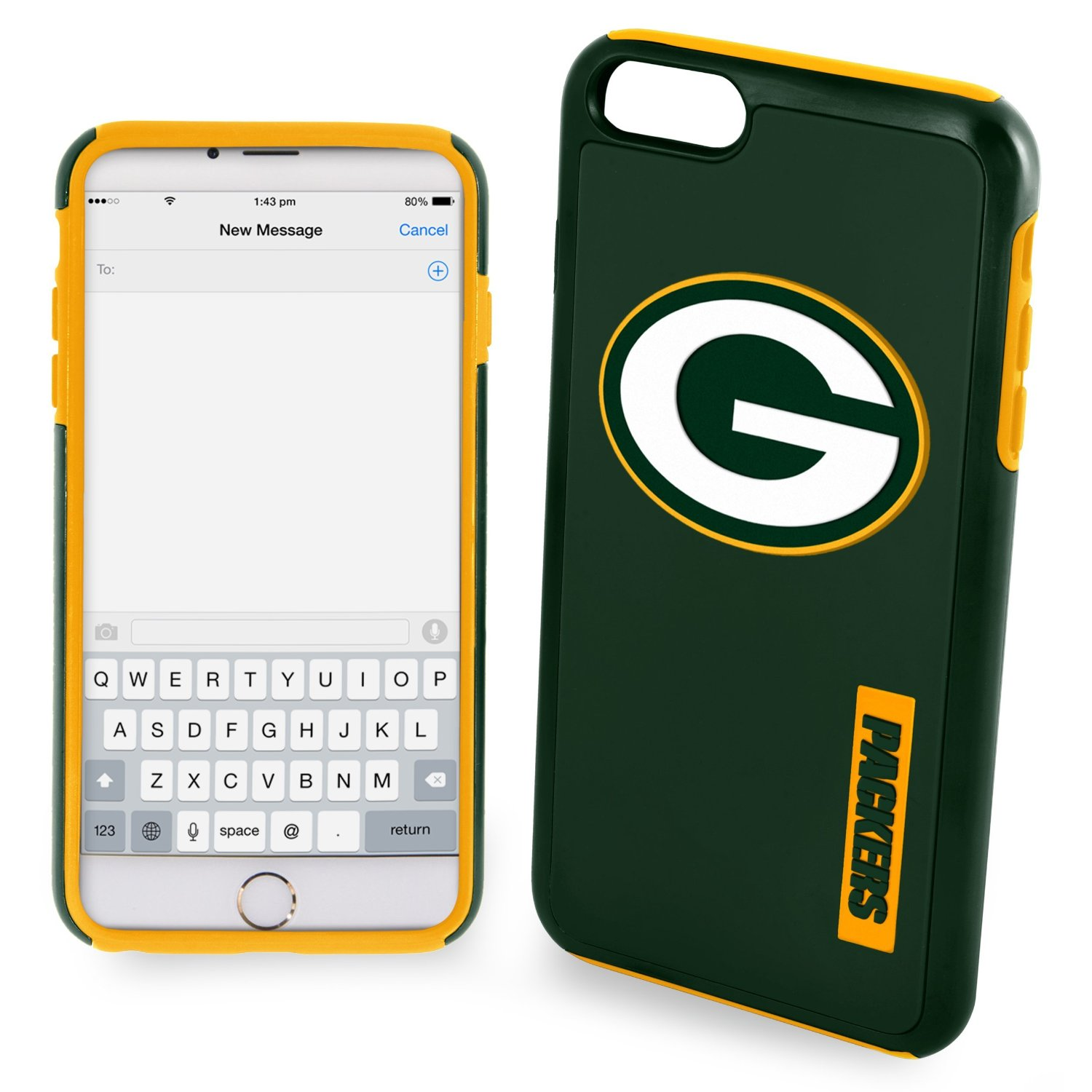 Apple iPhone 6/6S Plus (5.5 inch) NFL Case, Slim Dual layer Hybrid Hard Case on TPU Case [Green Bay Packers]