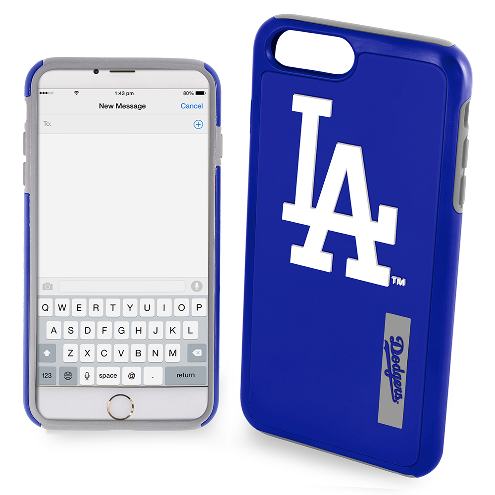 Apple iPhone 6S Plus / 6 Plus MLB Case, Slim Dual layer Hybrid Hard Case on TPU Case [Los Angeles Dodgers]
