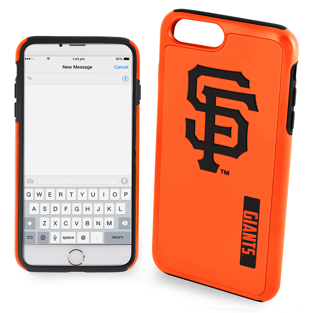 Made for Apple iPhone 6/6S Plus (5.5 inch) MLB Case, Slim Dual layer Hybrid Hard Case on TPU Case [San Francisco Giants] by MLB