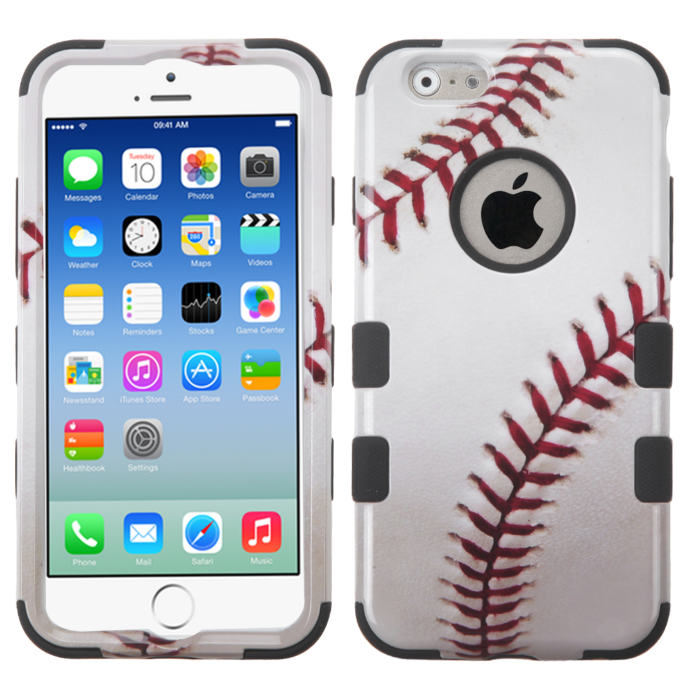 Made for Apple iPhone 6/6S (4.7 inch) Case, TUFF Hybrid Dual Layer Hard Case on Silicone Skin [Baseball] by Redshield