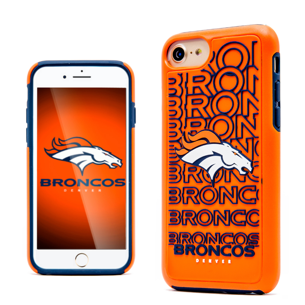 Apple iPhone 8 / 7 / 6S / 6 NFL Case, Slim Dual layer Hybrid Hard Case on TPU Case [Denver Broncos]