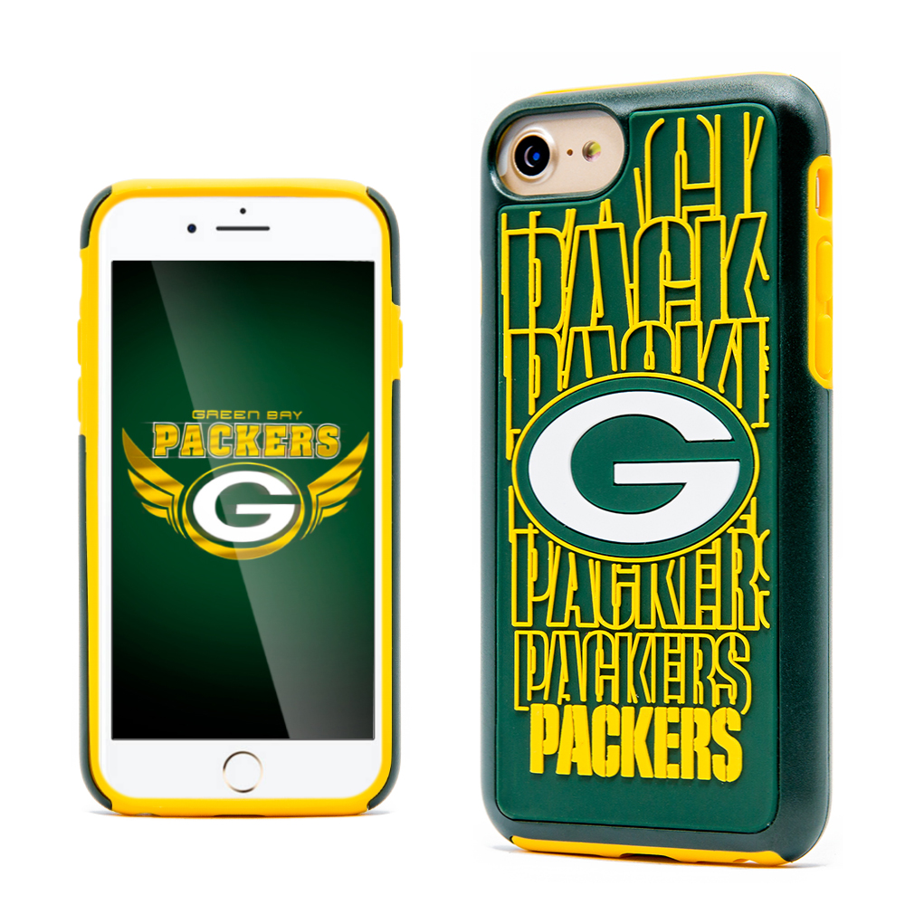 Made for Apple iPhone 8 / 7 / 6S / 6 NFL Case, Slim Dual layer Hybrid Hard Case on TPU Case [Green Bay Packers] by NFL