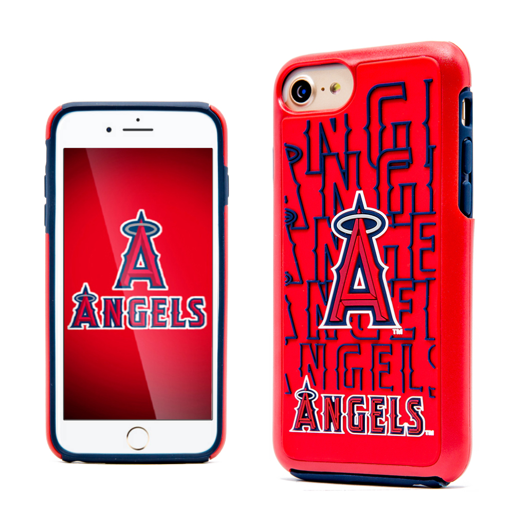 Made for Apple iPhone 8 / 7 / 6S / 6 MLB Case, Slim Dual layer Hybrid Hard Case on TPU Case [Los Angeles Angels] by MLB