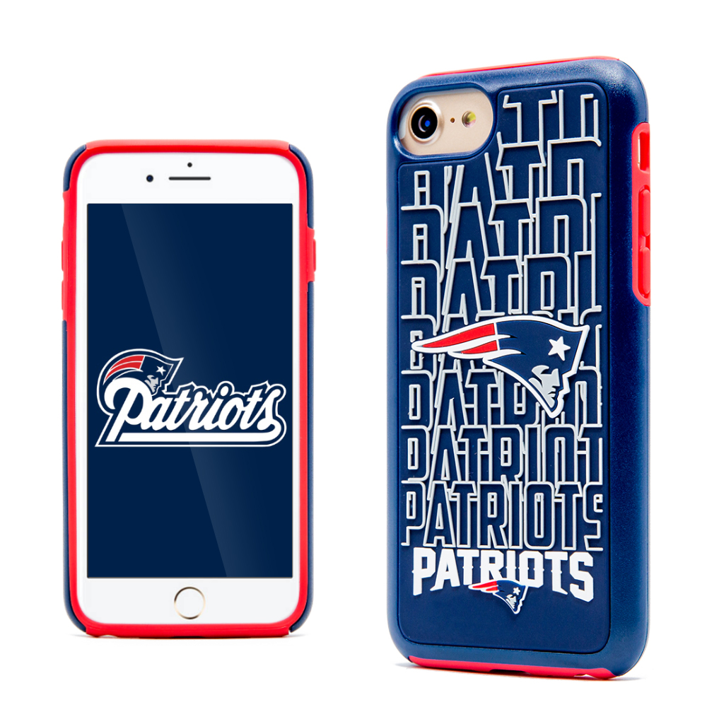 Apple iPhone 8 / 7 / 6S / 6 NFL Case, Slim Dual layer Hybrid Hard Case on TPU Case [New England Patriots]