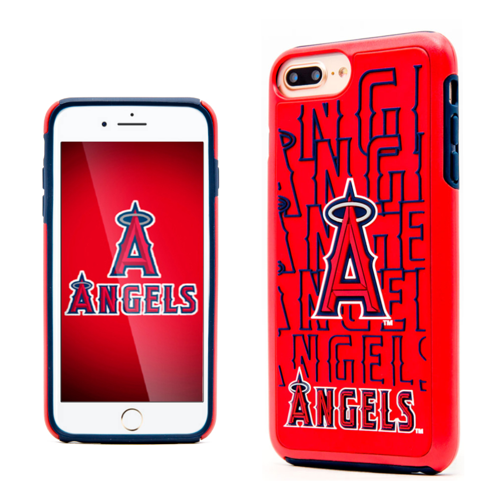 Apple iPhone 8 Plus / 7 Plus / 6S Plus / 6 Plus MLB Case, Slim Dual layer Hybrid Hard Case on TPU Case [Los Angeles Angels]