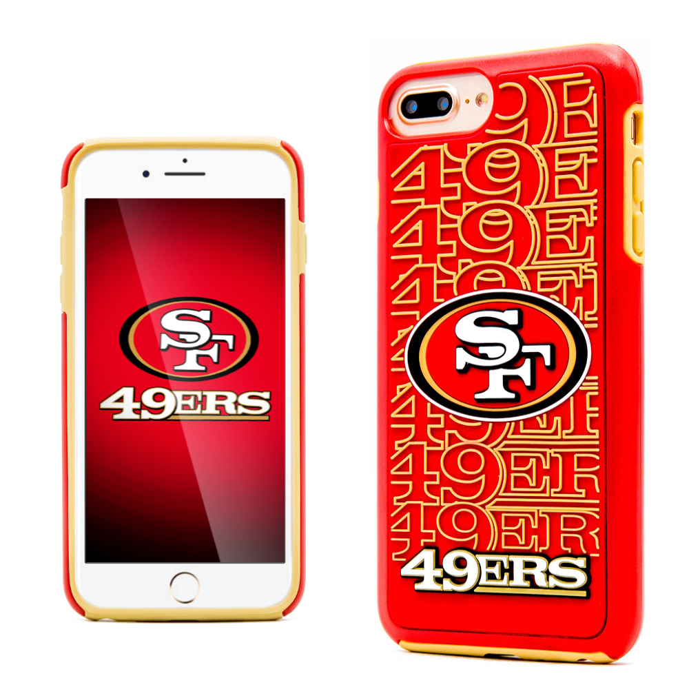 Made for Apple iPhone 8 Plus / 7 Plus / 6S Plus / 6 Plus NFL Case, Slim Dual layer Hybrid Hard Case on TPU Case [San Francisco 49ers] by NFL
