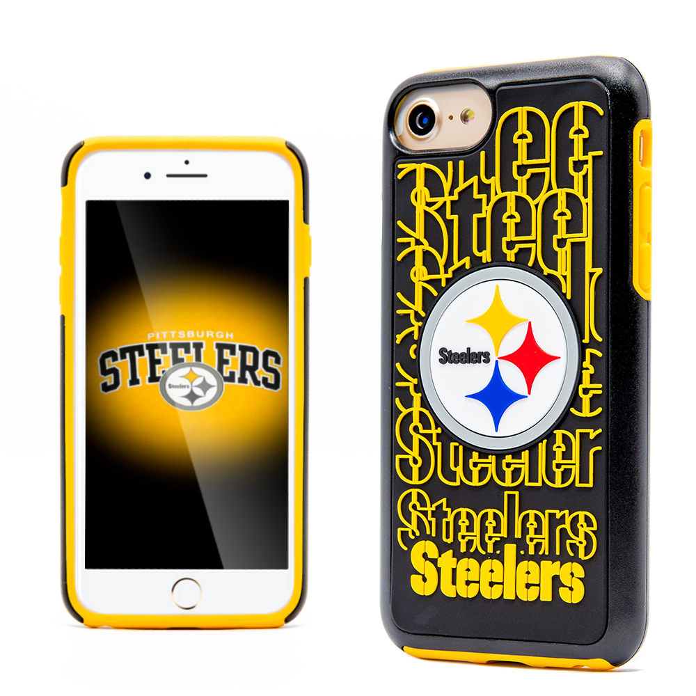 Made for Apple iPhone 8 / 7 / 6S / 6 NFL Case, Slim Dual layer Hybrid Hard Case on TPU Case [Pittsburgh Steelers] by NFL