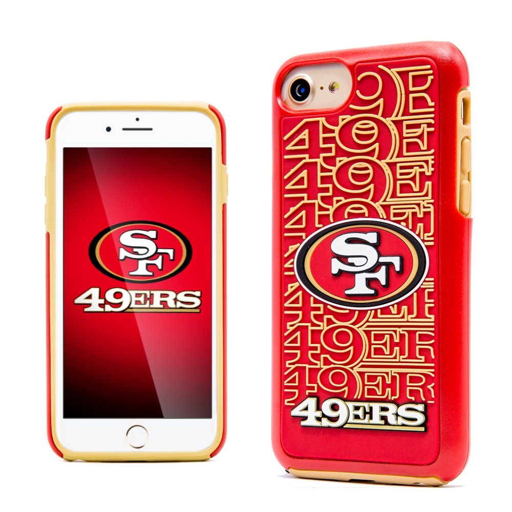 Apple iPhone 8 / 7 / 6S / 6 NFL Case, Slim Dual layer Hybrid Hard Case on TPU Case [San Francisco 49ers]