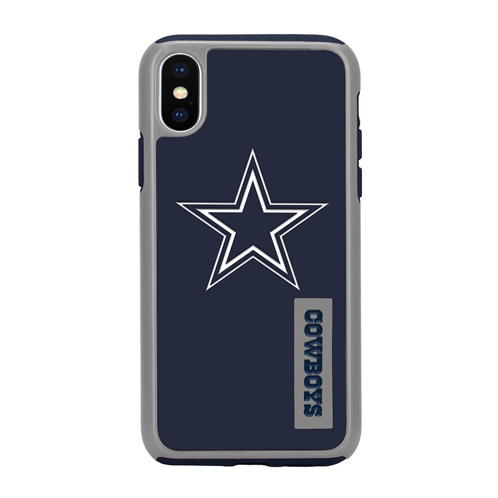 Apple iPhone X NFL Case, [Dallas Cowboys] Slim Dual layer Hybrid Hard Case on TPU Case