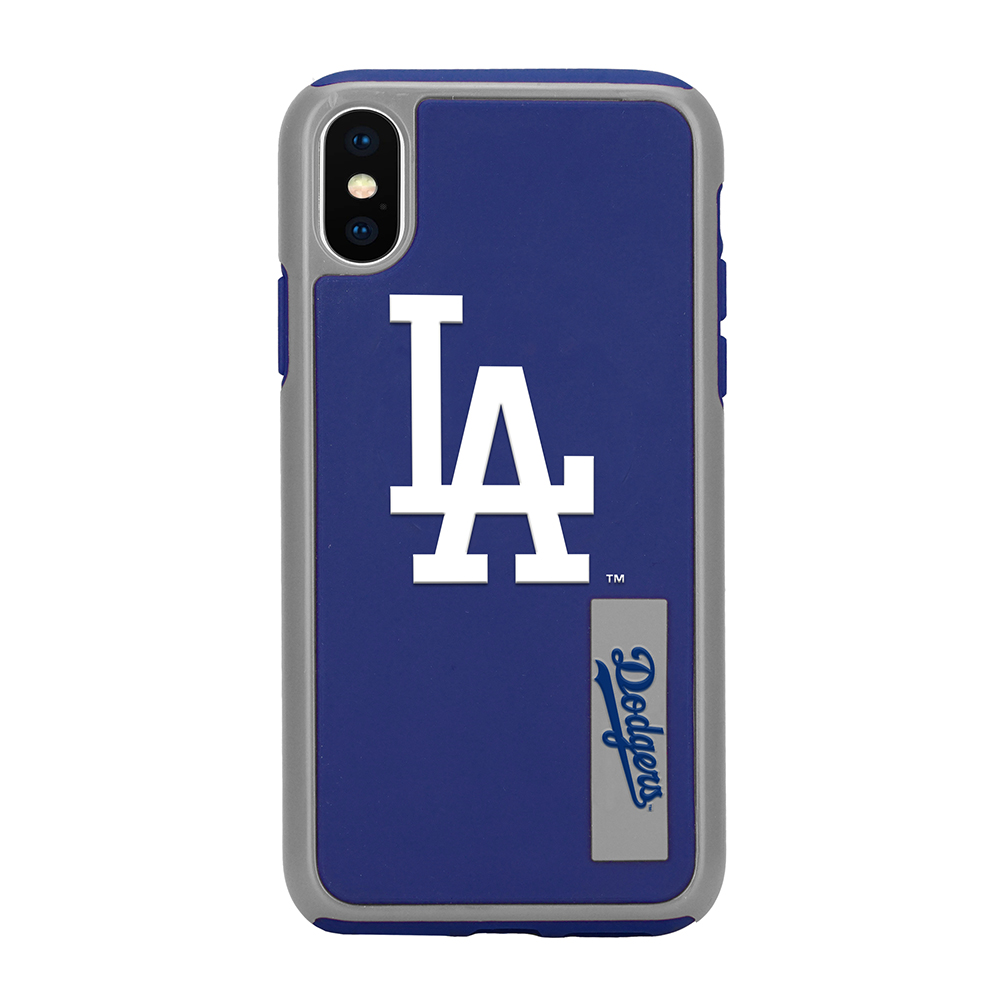 Apple iPhone X MLB Case, [Los Angeles Dodgers] Slim Dual layer Hybrid Hard Case on TPU Case