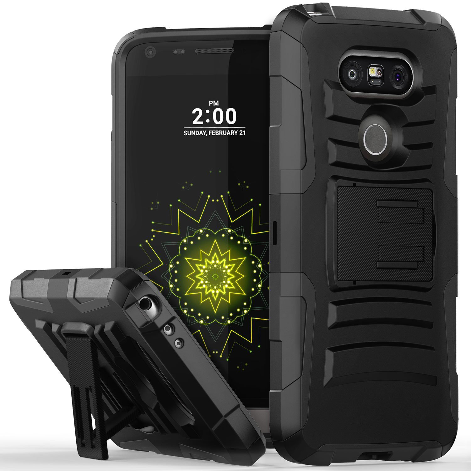 LG G5 Holster Case, REDshield® [Black] Supreme Protection Hard Plastic on Silicone Skin Dual Layer Hybrid Case